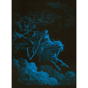"Death Rides a Pale Horse Blacklight Poster - 24""x36"""