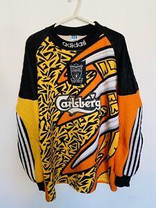 Liverpool 1995 GK Football Shirt Size Medium JAMES 1 Authentic Rare Original