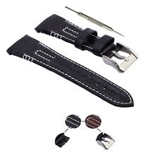 AHK Straps 26mm Fits For Seiko Velatura Kinetic Leather / Rubber and Watch Band