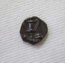 CALABRIA, TARAS. SILVER OBOL, C.280-228 BC. KANTHAROS. SUPERB SMALL COIN. TONED.