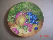 M J China Norwich Collectors Plate FRUITS OF EDEN
