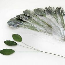 Pack of 36 Artificial Rose Leaves make your own buttonholes