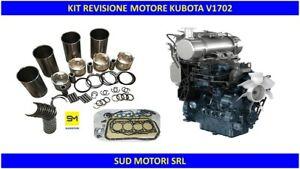 KIT MOTORE KUBOTA V1702 OVERHAUL REBUILT KIT ENGINE NUOVO PISTONI GUARNIZIONI