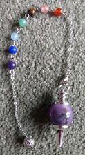 Amethyst 7 chakra crystal healing pendulum dowsing