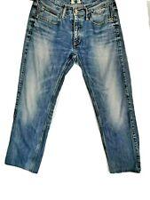 TOMMY HILFIGER Mens Rogar Blue Mid Rise Jeans W30 L28 Short