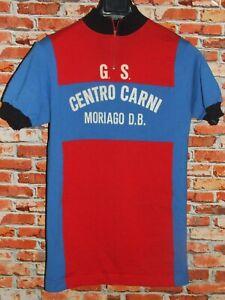 Shirt Bike Shirt Maillot Cycling Heroic Vintage 70'S Mariago 50% Wool