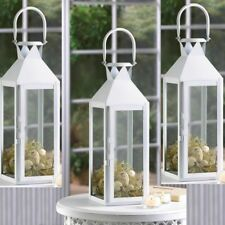 """Lot 10 Large White 15"""" Tall Candle Holder Lantern lamp Wedding Table centerpiece"""