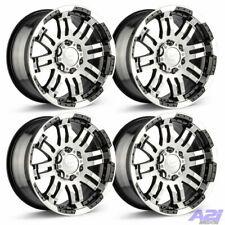 Set 4 18x85 Vision Warrior Black Machined Wheels For Ford Truck 6x135 With Lugs