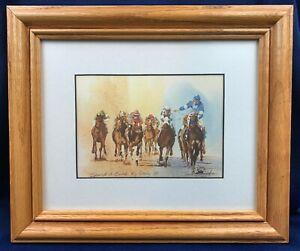 Spend A Buck 1985 Kentucky Derby Tony Oswald Framed Print Ky Derby