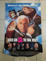 Naked 33 1/3 movie poster  - Leslie Nielsen - 27 x 40