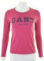 GANT Womens Graphic Top Long Sleeve Size 6 XS Purple Cotton  LC01