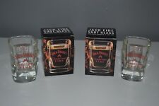 2x Jack Daniel's Fire Tennessee Whiskey Shot Glass Glasses 25ml Limited In Box
