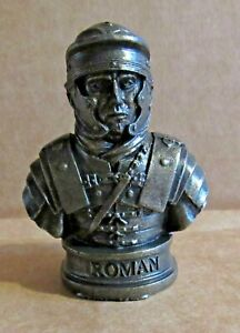 ORNAMENT ROMAN SOLDIER RESIN BRONZED BUST LEGIONARIES HEAVY INFANTRY ARMY