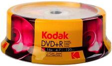 25 Kodak Rohlinge DVD R 120 Min. 4 7gb 16x Spindel