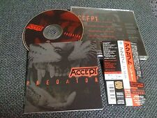 ACCEPT / predator /JAPAN LTD CD OBI