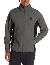 NWT Mens Polar/Blk Spyder Constant Full Zip Mid weight core sweater Size X-Large