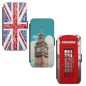 Union Jack London Flag UK WALLET FLIP PHONE CASE COVER