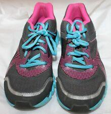 Reebok Ziglite Running Sneakers BIG KIDS 5.5 5 1/2 FITS WOMEN 7 GRAY PINK Blue
