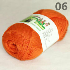 SALE 1Skein X 50gr Baby Rugs Natural Smooth Soft Bamboo Cotton Knitting Yarn 06