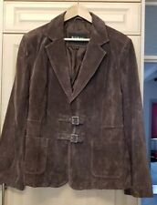 Ladies Suede leather B.Young  Jacket size XL Brown