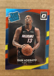 2017-18 NBA Donruss Optic Bam Adebayo Rookie RC #187 🔥 RED YELLOW BLUE PARALLEL