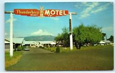 *1969 Thunderbird Motel 5845 Trans-Canada Highway Duncan BC Vintage Postcard A30