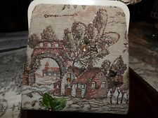 vintage beaded tapestry purse MINT