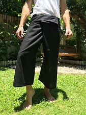 Thai Fisherman Pants 100 Cotton Black Yoga Beach Wear