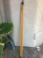Antique Vintage 15ft chicago steel tape Rod (Used) wood ft inch rod