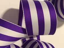 "25 Feet Purple Paisley Peacock Like Silver Glitter Accented Wired Ribbon 2 1//2/""W"