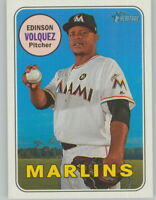 Edinson Volquez 2018 Topps Heritage Short-Print Card SP #492 Marlins