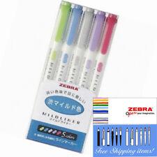 Zebra Mildliner Color 5 Colours Double-Sided Highlighter Marker WKT7-5C-NC