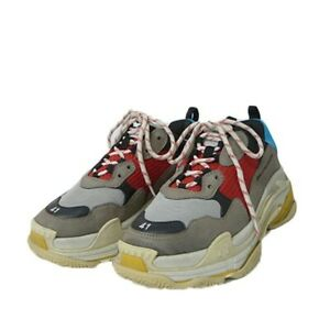 BALENCIAGA 533883 Triple S Dad Sneakers Gray x Red x Blue 41 Used