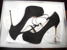 Brian Atwood FOLLOW ME Suede Platform Spike Heel Pumps Shoes Black 39 EU