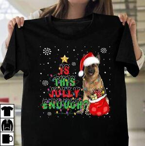 German Shepherd Is This Jolly Enough Christmas T-Shirt