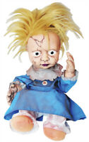 HALLOWEEN CREEPY GIRL ANIMATED KICKING HAUNTED DOLL SOUND PROP DECORATION