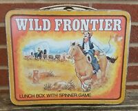 VTG Western Wild Frontier Lunch Box Spinner Game Ohio Art 1977 Metal Lunchbox