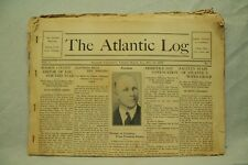 lot rare old antique vtg The Atlantic University Virginia Beach Log newspapers