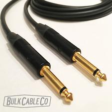 10' MOGAMI 2524 GUITAR CABLE - NEUTRIK NP2X-B - STRAIGHT CONNECTORS - ST/ST ENDS