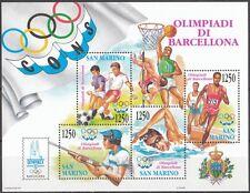 SAN MARINO 1992 foglietto Olimpiadi di Barcellona **