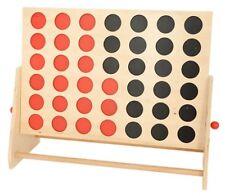 Jeu 4 en ligne Géant en bois rouge/noir 57x39 cm - Jeu de société XXL