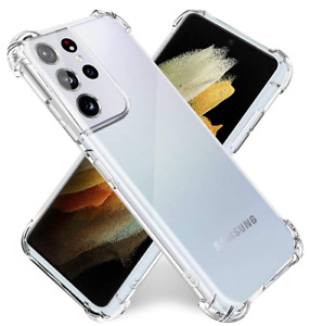 For Samsung Galaxy S21 S20 FE S10 Ultra 5G Shockproof Silicone Phone Case Cover