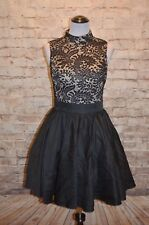 Modcloth Dancer's Delight  Dress 12 NWT Chi Chi Black fit & flare