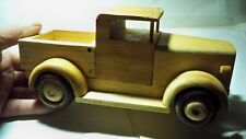 Handcrafted Wooden Pickup made out of Pine Wheels turn Coated with Polyurethane