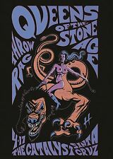 Queens of the stone age concert poster metal rock poster print AMK2505