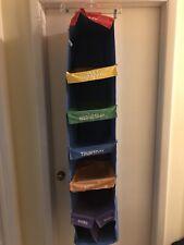 New listing Kid Daily Prepare Activity Organizer Hanging Cloth Storage 5 Shelf Label Mon-Fri