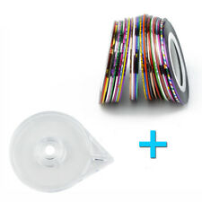 Lot de 30 Rubans Assortis Stripping Tape Nail Art Décoration Ongles Stripes