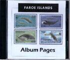 Faroe Islands CD-Rom Stamp Album 1919-2014 Color Illustrated Album Pages