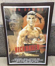 Kickboxer Movie POSTER 27 X 40 In Deluxe Wood Frame, Jean-Claude Van Damme