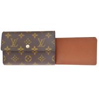Auth LOUIS VUITTON Tresor Trifold Wallet Purse Monogram Leather M61202 66ER344